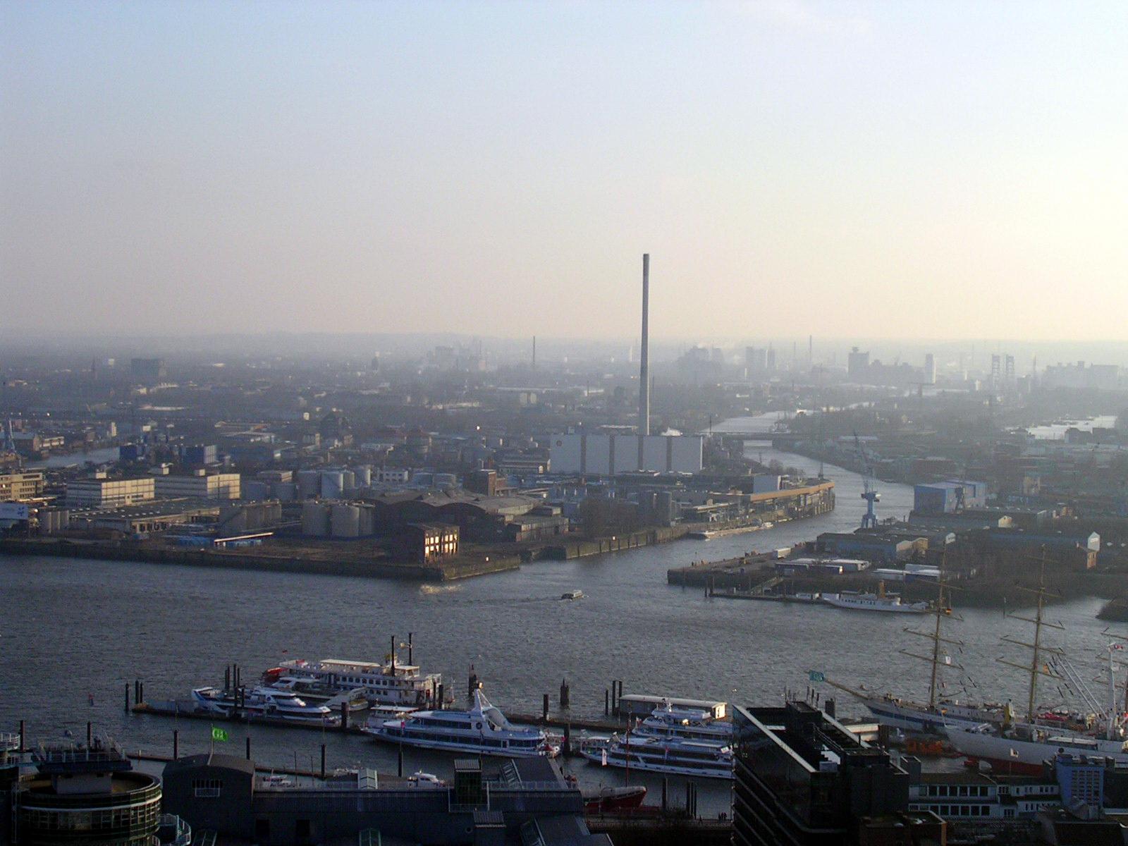La ville d'Hambourg vue du ciel